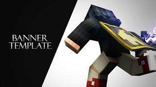 Minecraft Banner Template (C4D+PHOTOSHOP)