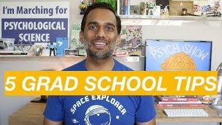 Five tips to survive grad school