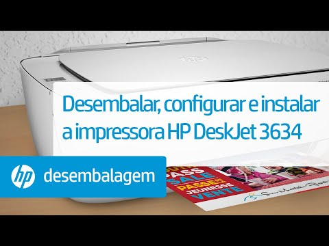 Desembalar, configurar e instalar a impressora HP DeskJet 3634