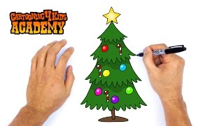 How To Draw A Christmas Tree L Christmas Tree Drawing Hmong Video
