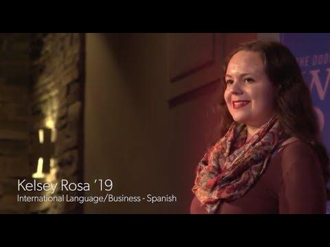 Kelsey Rosa'19(国际语言/商业 - 西班牙语)