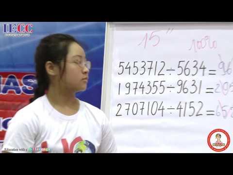 Tính nhanh siêu tốc - Phần biểu diễn tính toán kinh ngạc của học sinh UCMAS