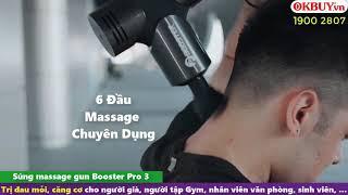 Video Súng massage cầm tay Booster PRO 3 - 126W - Hàng cao cấp nhất của hãng từ Mỹ