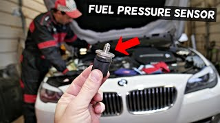 BMW F10 F11 FUEL RAIL PRESSURE SENSOR REPLACEMENT LOCATION 520i 528i