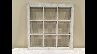 Where Can I Get An Antique Window? And How To Prepare It For Sea Glass Art