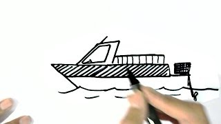 Motor boat pictures cartoon