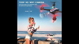 SNAPTAIN SP660 FPV RC Drone with Camera, 720P HD WiFi Live Video Quadcopter w/Long Flight Time