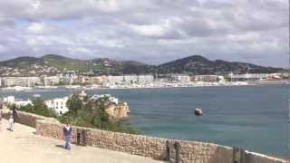 preview picture of video 'D'alt Villa and Ibiza Town, Ibiza, Spain - 15th October, 2012'