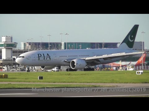 (HD) PIA Boeing 777-240(ER) AP-BGJ On PK701 At (MAN) Manchester Airport (EGCC) On The 16/09/2019