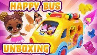 LOL Surprise Dolls Court Champ Unboxes Happy Bus and Plays with Moana, Poppy, and Chase!