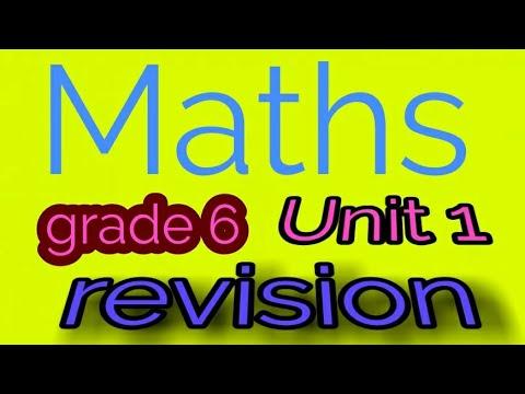 ماث الدرس الخامس ومراجعه الوحده الأولي من المعاصر grade 6 math lesson 5 revision unit1  Elmoasser modarsonline.com مدرس دوت كوم