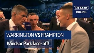 It's happening! Carl Frampton and Josh Warrington classy call out at Windsor Park - Video Youtube