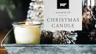 Homemade Christmas Candles With Essential Oils