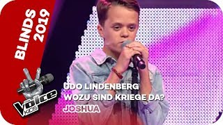 Udo Lindenberg - Wozu Sind Kriege Da? (Joshua) | Blinds | The Voice Kids 2019 | SAT.1