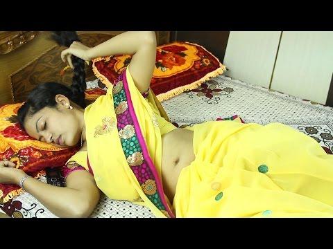 Indian beautiful housewife with husband friend in bedroom    Telugu romance