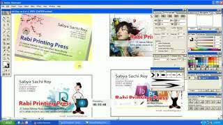 How to make own visiting card with original size