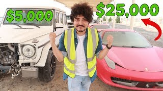 Dubai Top-Secret  SuperCars Graveyard  ( INSANE PRICES )