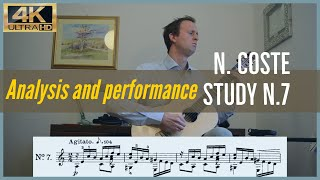 Napoleon Coste, study n. 7 op. 38. Analysis and Performance.