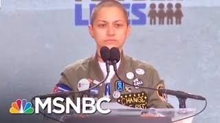 Emma Gonzalez Makes Statement With Silence At March For Our Lives | AM Joy | MSNBC
