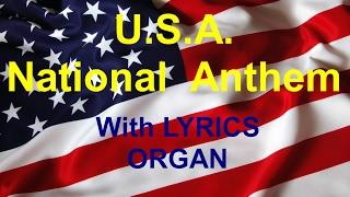 U.S.A. NATIONAL ANTHEM with LYRICS - Lance ORGANIST