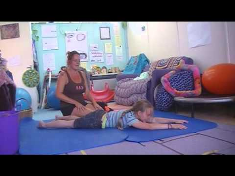 Screenshot of video: OT ideas for core stability