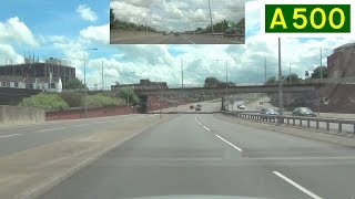 preview picture of video 'A500 Stoke 'D' Road - Clockwise (Part 3) - Front View with Rearview Mirror'