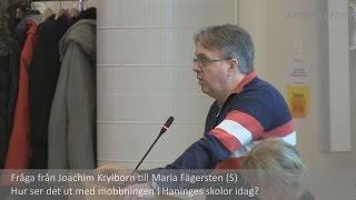 preview picture of video '2015-03-02 Haninge kommunfullmäktige - Frågestund: Mobbing i Haninges skolor'