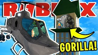 WE SAVE A  GIRL WHEN A *HUGE* GORILLA ATTACKS ROBLOXIAN HIGHSCHOOL!! | ROBLOX ROLEPLAY ADVENTURE