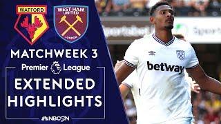 Watford v. West Ham United | PREMIER LEAGUE HIGHLIGHTS | 8/24/19 | NBC Sports
