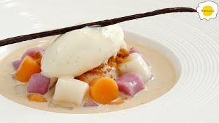 Milk Tea Cheese Taro Balls 奶茶芝士芋圆 Boules de Taro au Thé au Lait et au Fromage