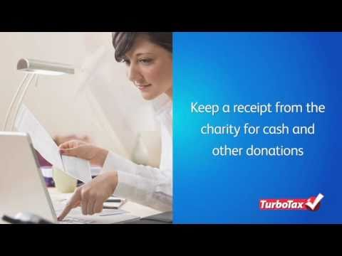 Deducting Charitable Contributions - TurboTax Tax Tip Video