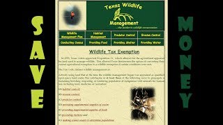 Wildlife Tax Exemption and why you should look into getting it on your land