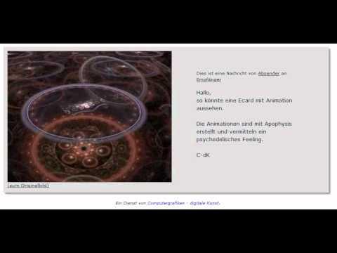 E-cards kostenlos -  animierte Grußkarten mit Apophysis