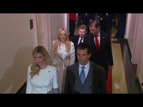 Trump children arrive at swearing-in ceremony