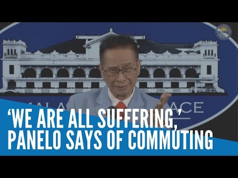 [Inquirer]  'We are all suffering,' Panelo says of commuting