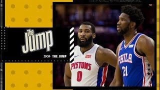 Reminiscing on Joel Embiid's old feud with new teammate Andre Drummond   The Jump