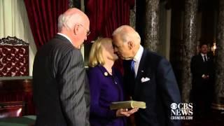 Biden swears in Leahy as Senate's president pro tempore