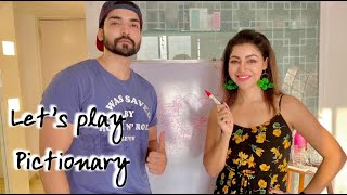 PLAYING PICTIONARY OR FUNNY FIGHTING | DANGEROUS TO PLAY BETWEEN HUSBAND HUSBAND AND WIFE
