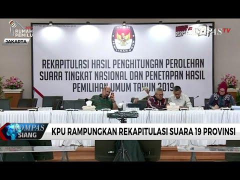 KPU Gelar Rekapitulasi Suara Nasional 7 Provinsi Hari Ini (15/5)