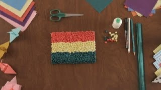How To Make A Tissue Paper Flag : Paper Art Projects