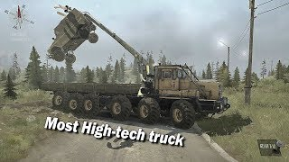Spintires Mudrunner Most Hightech Vehicle | Kirovets 12x12 truck