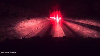 preview picture of video 'A525 - Coedpoeth Hill on 26th Dec 2014'