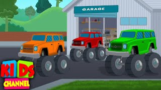 Jeep Colors - Learning Videos for Babies | Car Cartoons from Kids Channel