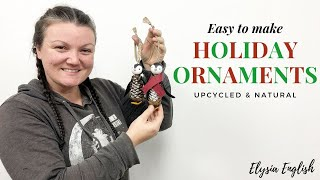 5 DIY Christmas Ornaments   Easy To Make   Up-cycled & Recycled   Handmade   Christmas Tree Decor