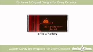 Candles & Favors Custom Candy Bar Wrappers