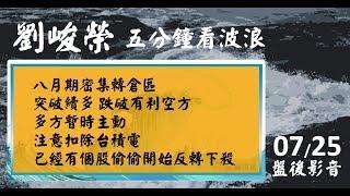 劉峻榮 五分鐘看波浪 影音分析 2018/07/25