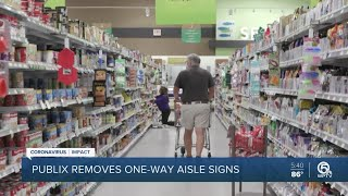 Publix ends one-way aisles in some of its stores