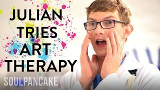 Julians Art Therapy Session! | The Science Of Happiness