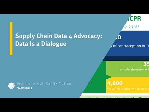 Supply Chain Data 4 Advocacy: Data Is a Dialogue