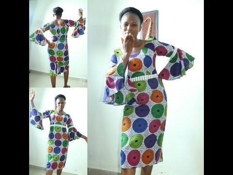 Shakara Friday Wear/Bell Sleeve Dress/Circular Sleeve Gown/African Dress With Circle Sleeve